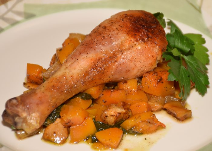 Recipe for roasted butternut chicken