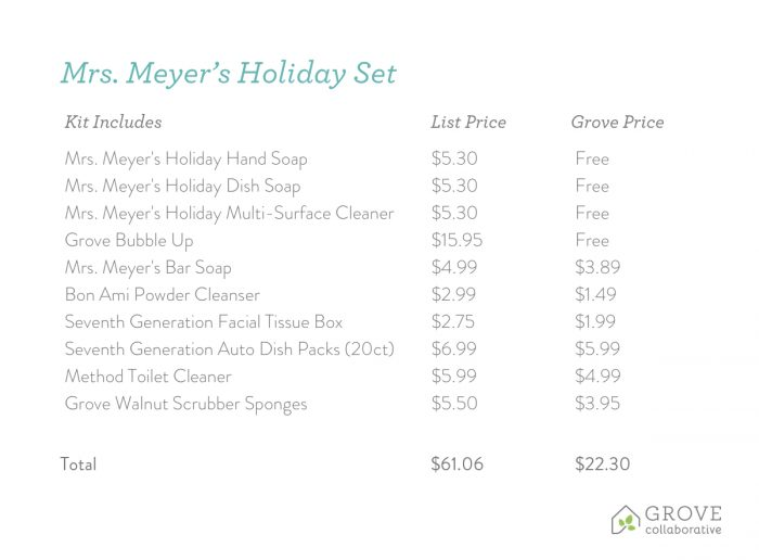 mrs meyer's holiday deals
