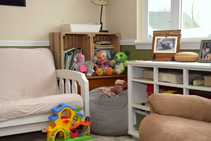 Fun reading nook for kids.