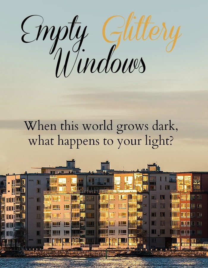 Is your light just empty glittery windows reflecting on the outside, or does your light come from within?