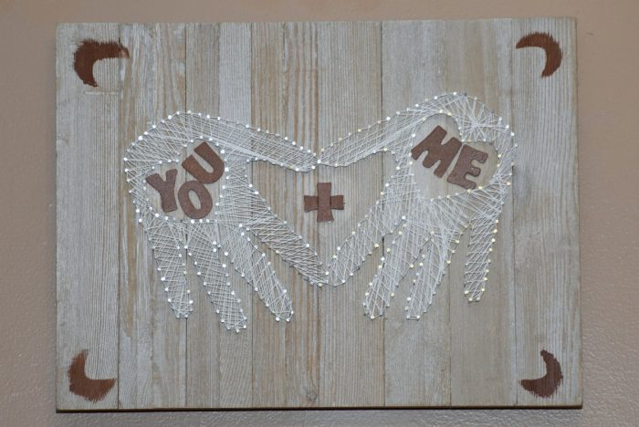 Hand/Heart String Art Valentines Gift Idea – You + Me