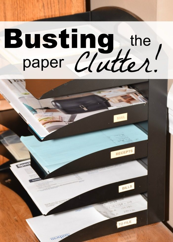 Busting the paper clutter is easy when you have a system in place.