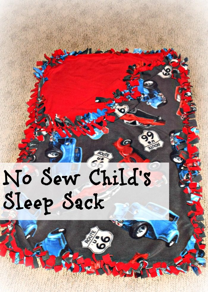 How to make a no sew sleep sack for toddlers with fleece! #YourTaxCash #ad