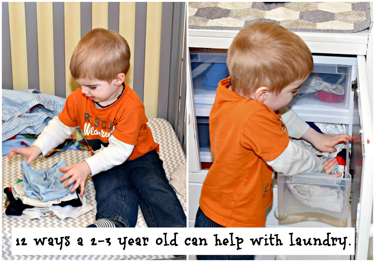 36 simple chores for 2 and 3 year olds. 12 ways a toddler can help with laundry
