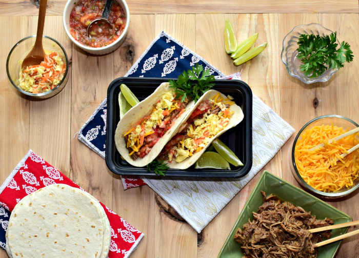 Delicious pulled pork street tacos