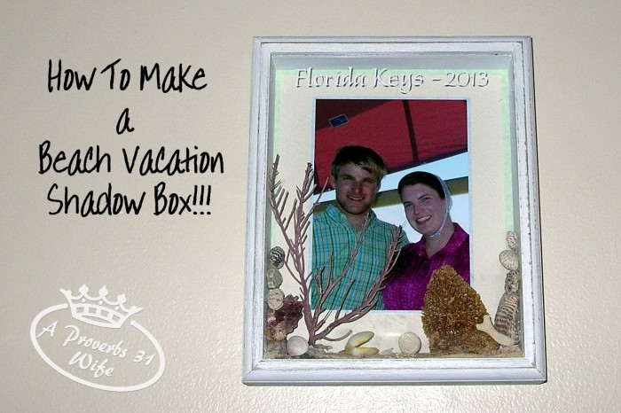 Beach themed shadow box. #beach #shadowbox #vacation
