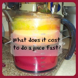 What does it cost to juice fast?