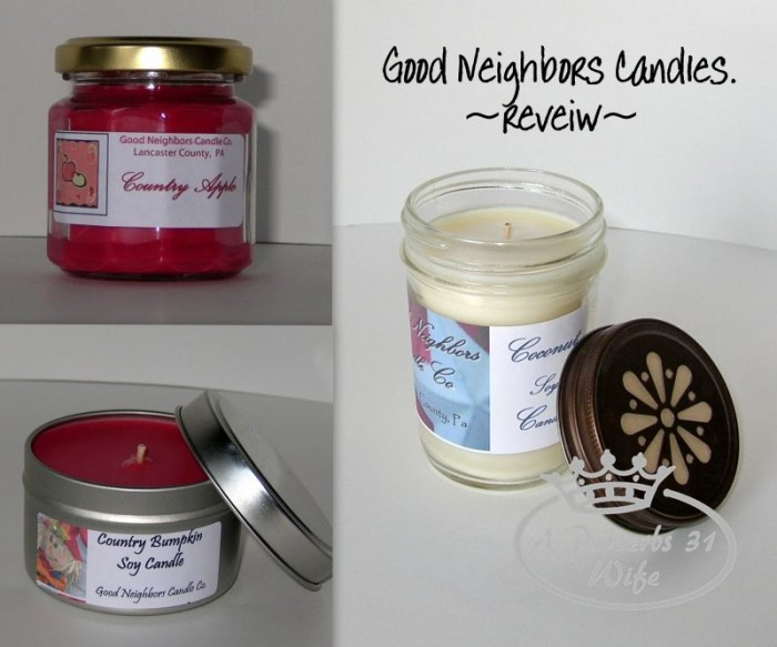 Good Neighbors Candles ~Reveiw and Giveaway +Linkup