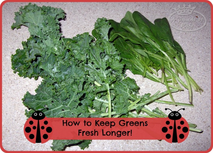 How to keep greens fresh longer. #fresh #greens