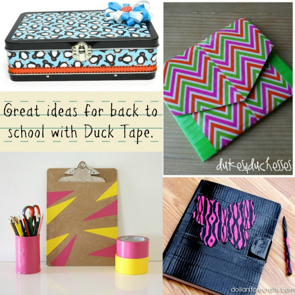 Fun and creative ways to send your child back to school with Duck Tape creativity! #backtoschool #ducktape #ducktapeschoolprojects
