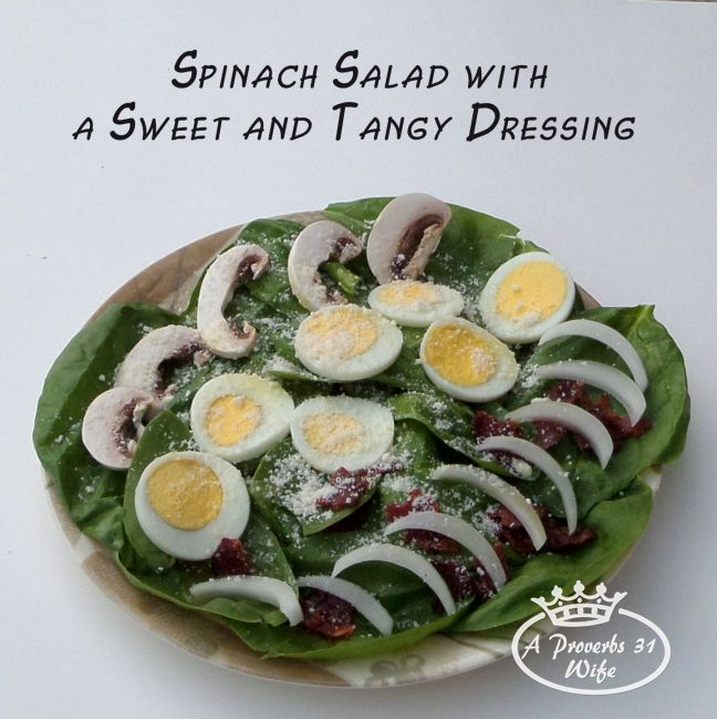 Spinach Salad and Dressing Recipe