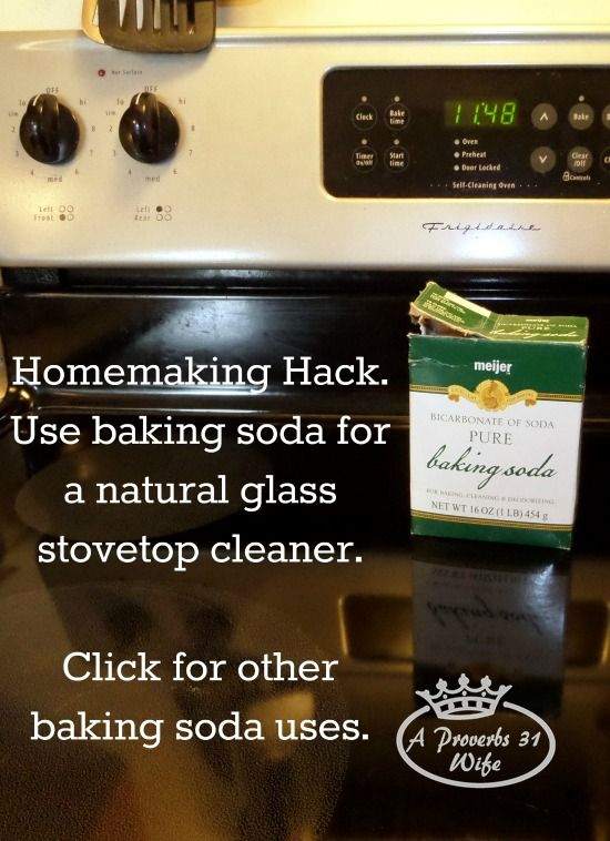 Glass Stove Top Cleaner. Using baking powder to clean stove top plus other uses.