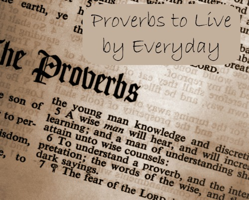 Bible Proverbs to live by every day. Click for more practical applications.