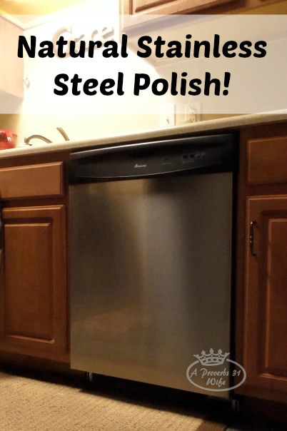 Natural Stainless Steel Polish. Just one more chemical cleaner that you can get rid of!