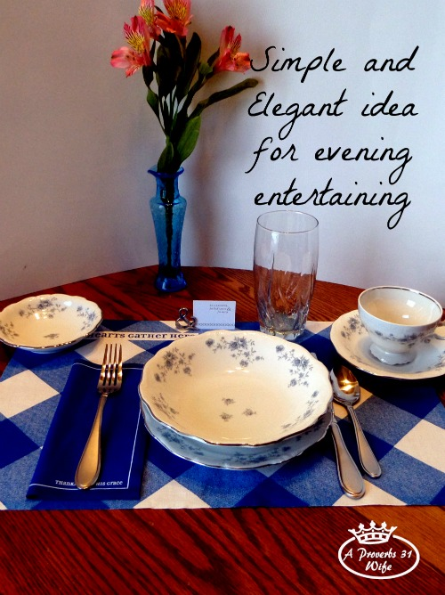 2 Simple entertaining ideas. Idea number one: intimate dinner with close friends