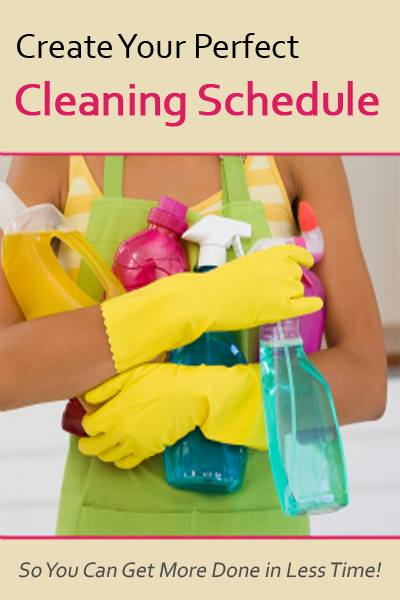 Is there really a perfect cleaning schedule for me, or is this just another how-to that really doesn't help at all?