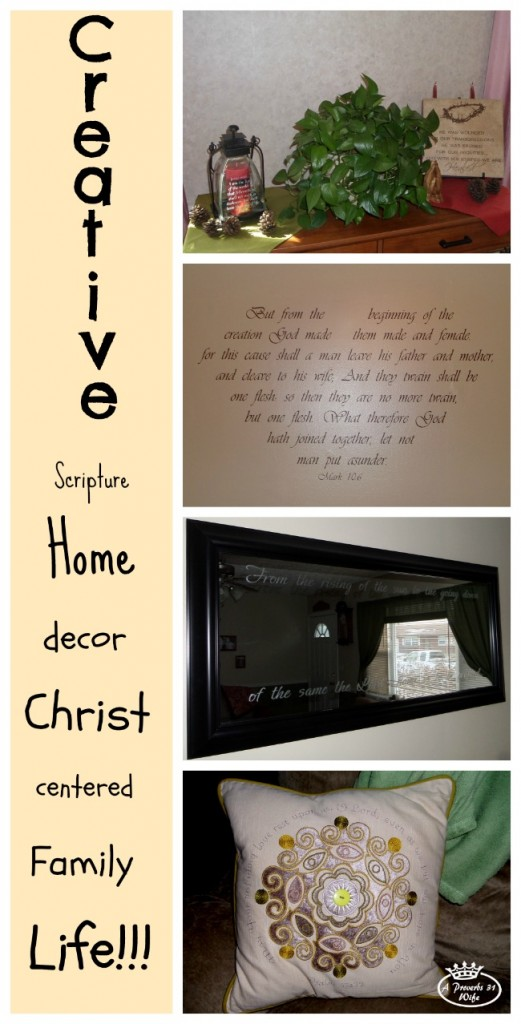 Creative ways to have a scripture filled home