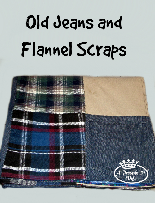 Old Jeans and Fabric Scraps  Repurposing and Creating