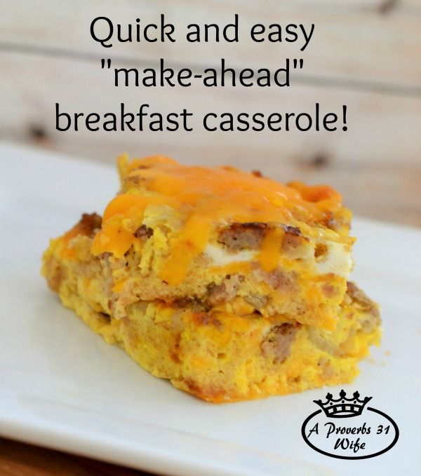 Quick and Simple Breakfast Casserole