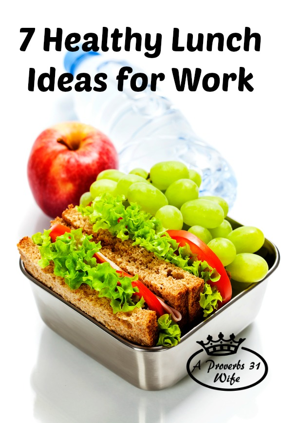 7 ideas that make healthy lunches for work. Plus snack ideas!