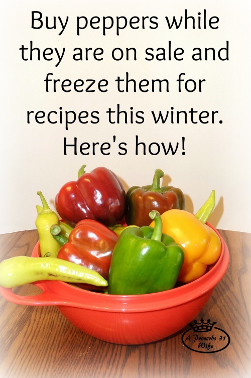 How to freeze peppers for recipes