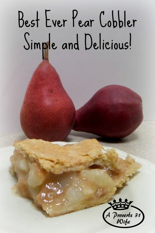Recipe for Pear Cobbler ~Simple and Delicious!