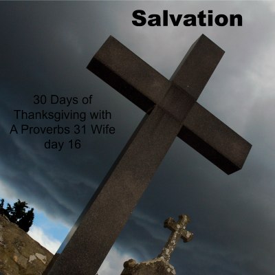 Salvation ~30 Days of Thanksgiving day 16 + linkup