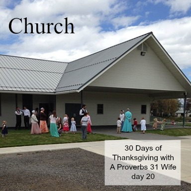 Church ~30 Days of Thanksgiving day 20