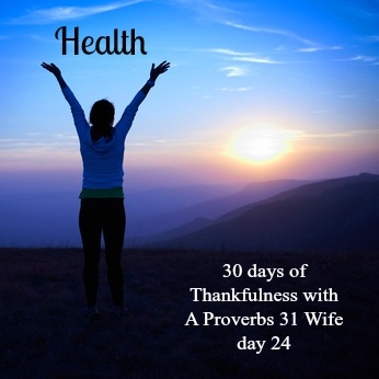 Being thankful for good health should be an everyday thing!