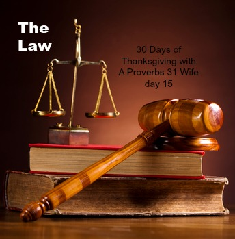 The Law ~30 Days of Thankfulness day 15