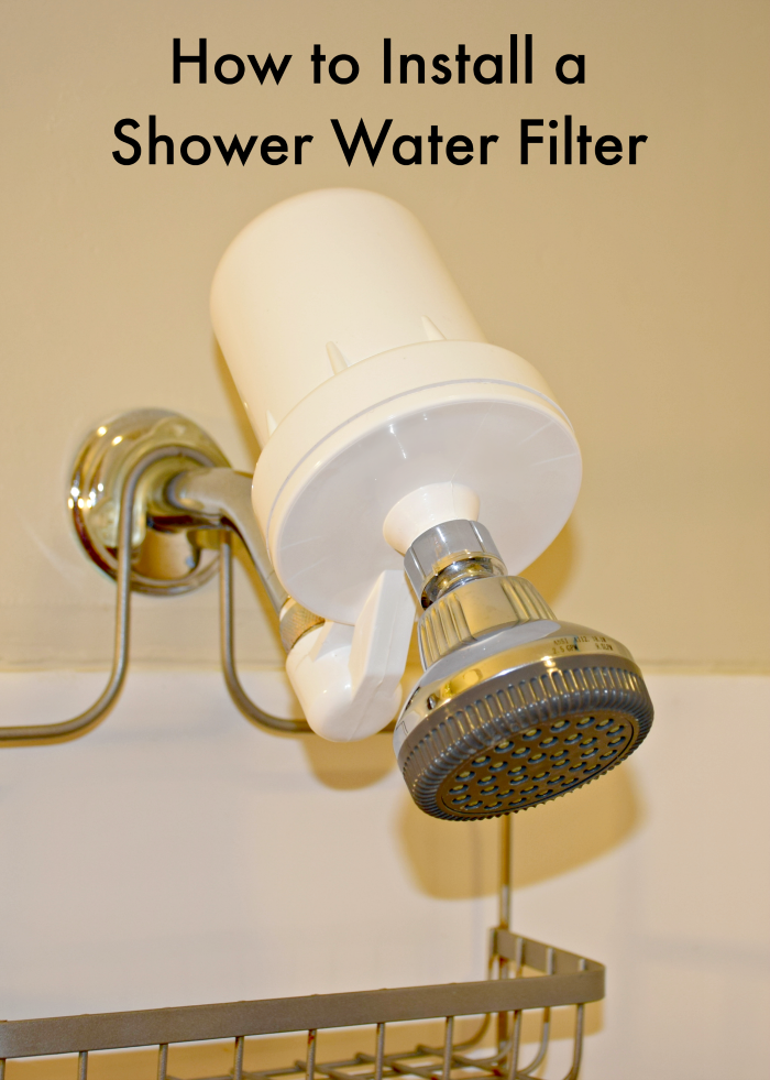 How to install a shower water filter.