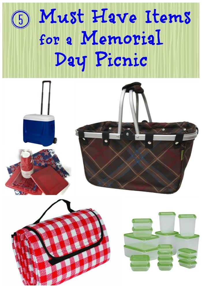 5 Must Have Items for a Memorial Day Picnic.