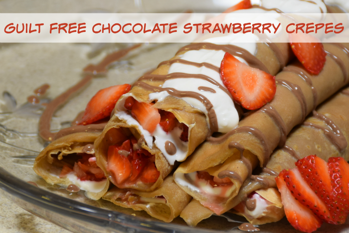 Guilt Free Chocolate Strawberry Desert Crepes