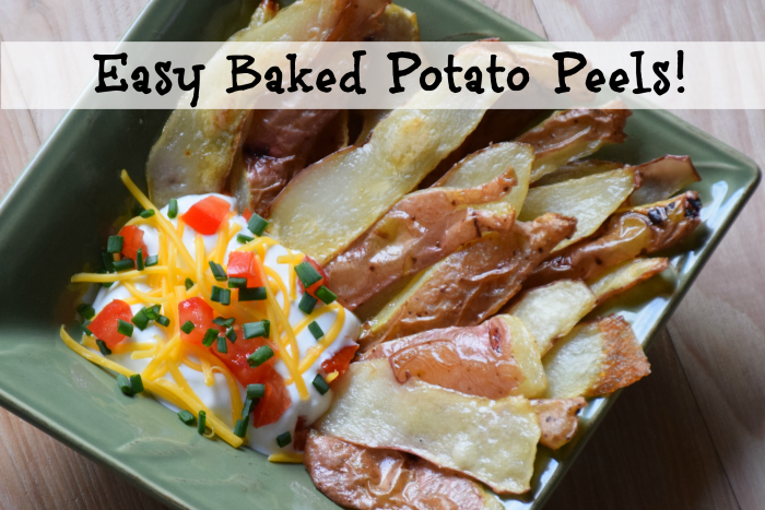 Baked Potato Peels ~ Eat Your Veggie Skins!