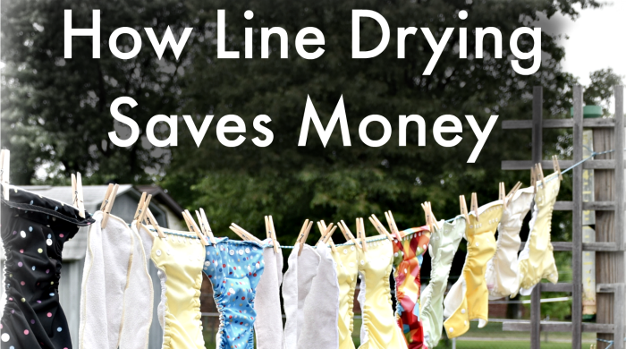 Line Drying Clothes Saves Money