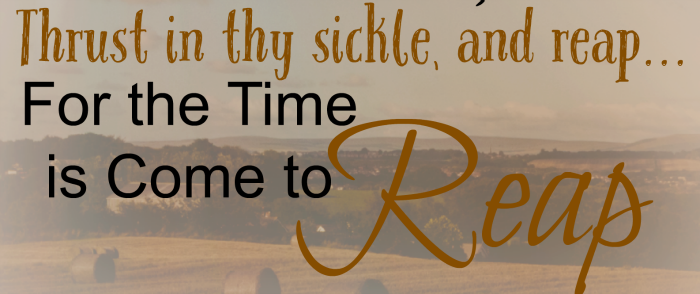 A final reaping. Free inspirational fall printable with harvest theme .
