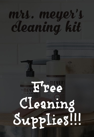 For a limited time only get a free eco friendly Mrs. Meyer's cleaning kit!  I use this site monthly to save big and you should too! Learn more here!