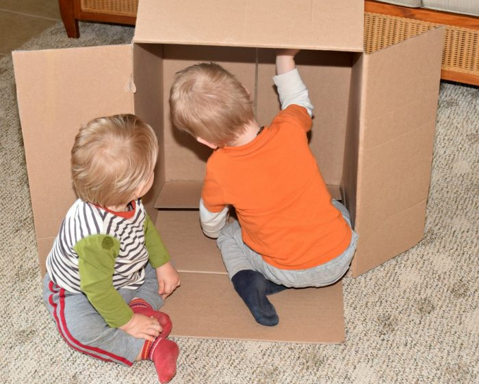 Cardboard Box Baby Christians + linkup