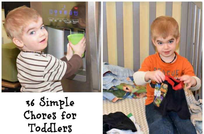 36 simple chores for 2 and 3 year olds.