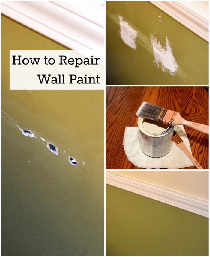 How to touch up wall paint. Repair small holes, dents and dings without repainting an entire wall.