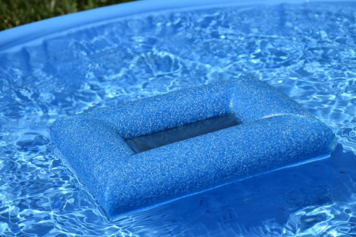 Use a pool noodle and freezer bag to make a waterproof phone case! #SummerIsForSavings #CollectiveBias #WFM1 #ad
